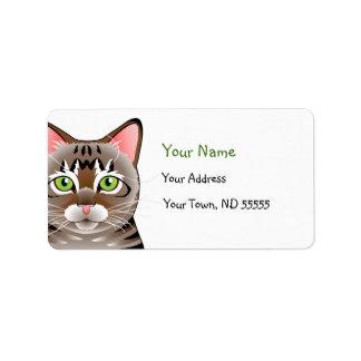 J'aime mes étiquettes de adresse tigrés