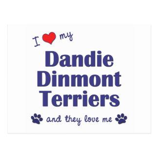 J'aime mes terriers de Dandie Dinmont (les chiens Carte Postale