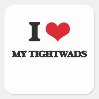 J'aime mes Tightwads Autocollant Carré