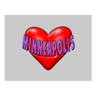 J'aime Minneapolis Carte Postale