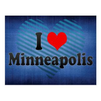 J'aime Minneapolis, Etats-Unis Carte Postale