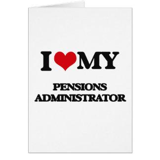 J'aime mon administrateur de pensions carte