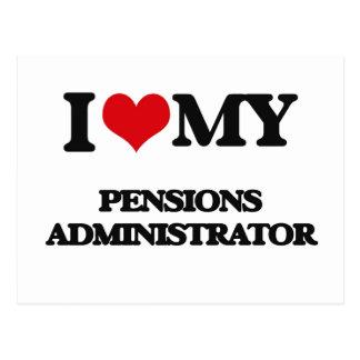 J'aime mon administrateur de pensions cartes postales