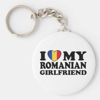 J'aime mon amie roumaine porte-clé rond