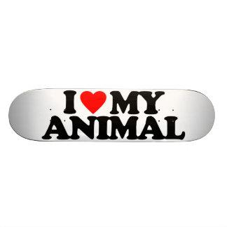 J'AIME MON ANIMAL PLATEAU DE PLANCHE À ROULETTES