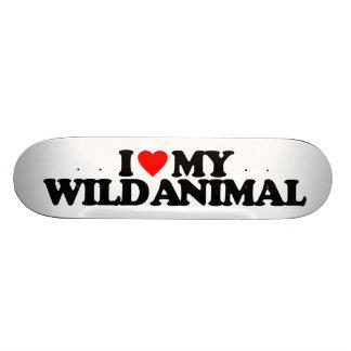 J'AIME MON ANIMAL SAUVAGE PLATEAUX DE PLANCHE À ROULETTES