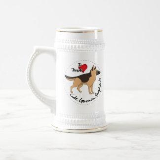 J'aime mon berger allemand adorable et mignon chope à bière