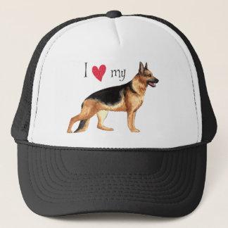 J'aime mon berger allemand casquette