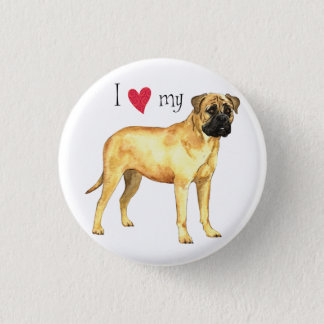 J'aime mon Bullmastiff Badge Rond 2,50 Cm