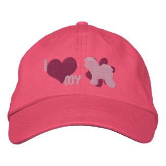 J'aime mon casquette brodé par Frise de Bichon (le