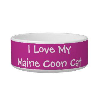 J'aime mon chat de ragondin du Maine Assiettes Pour Chat