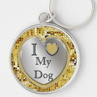 J'aime mon chien ou ? Porte - clé de coeur Porte-clés