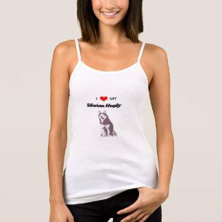 J'aime mon débardeur de chien de traîneau sibérien