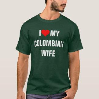 """""""J'aime mon épouse colombienne """" T-shirt"""