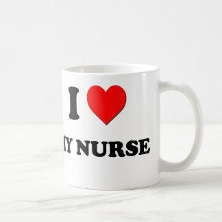 J'aime mon infirmière mug blanc