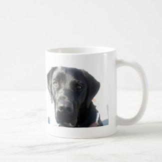 J'aime mon Labrador noir Mug Blanc