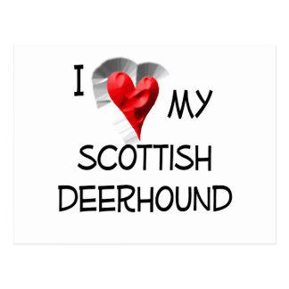 J'aime mon limier écossais carte postale