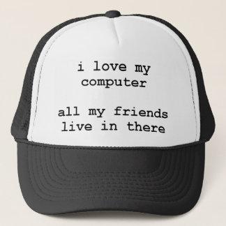 j'aime mon ordinateur casquette