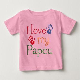 J'aime mon Papou (Handprints) T-shirt Pour Bébé
