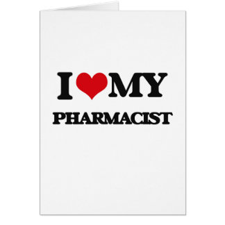 J'aime mon pharmacien carte de vœux