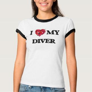 J'aime mon plongeur t-shirt