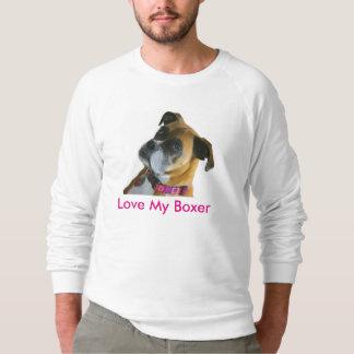 J'aime mon sweatshirt de boxeur