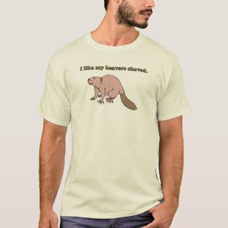 J'aime mon T-shirt rasé par castors