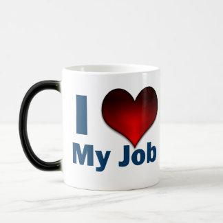 J'aime mon travail mug magique
