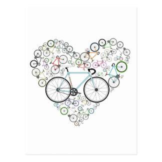 J'aime mon vélo carte postale