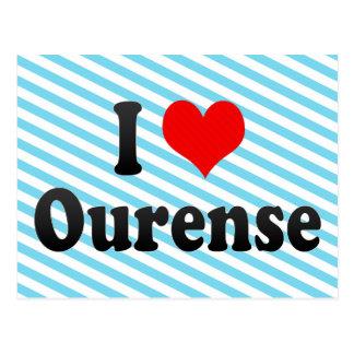 J'aime Orense, Espagne. J'Encanta Orense, Espagne Carte Postale