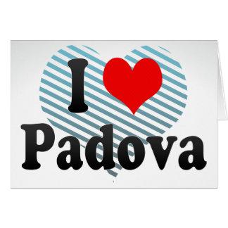 J'aime Padoue, Italie Carte