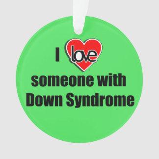 J'aime quelqu'un avec Noël de syndrome de Down