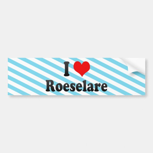 J'aime Roeselare, Belgique Autocollants Pour Voiture