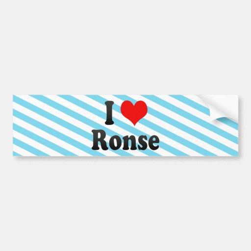 J'aime Ronse, Belgique Autocollants Pour Voiture