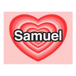 J'aime Samuel. Je t'aime Samuel. Coeur Carte Postale