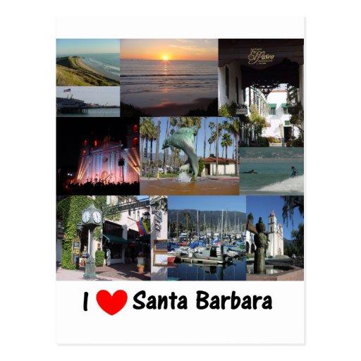 j'aime Santa Barbara .png Carte Postale