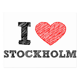 J'aime Stockholm Carte Postale