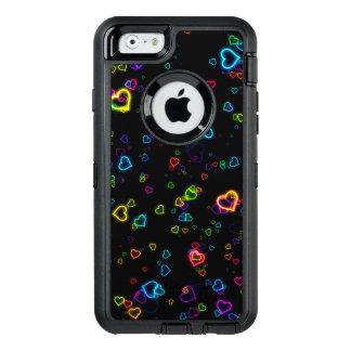 J'aime U - néon heureux Coque OtterBox iPhone 6/6s