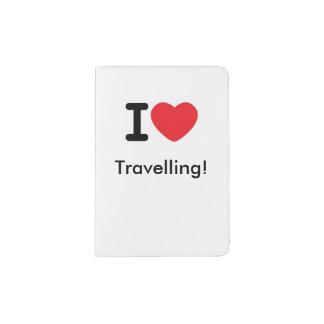 J'aime voyager ! support de passeport protège-passeport