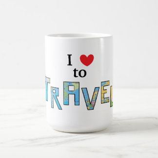 """J'aime voyager"" tasse"
