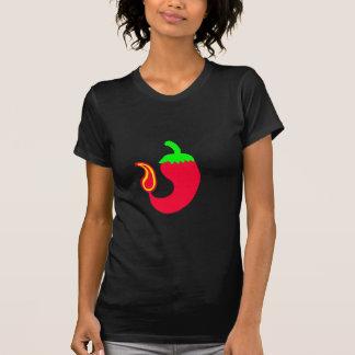 Jalapeno chaud de T-shirt de base foncé de dames