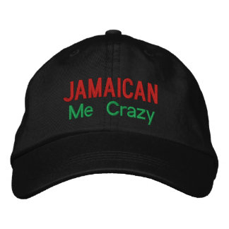 Jamaïcain je casquette réglable personnalisé fou
