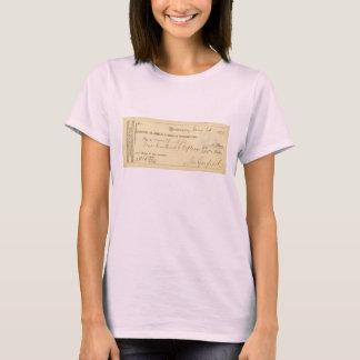 James Garfield a signé le chèque depuis le 25 T-shirt