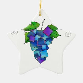 Jamurissa - raisins carrés ornement étoile en céramique