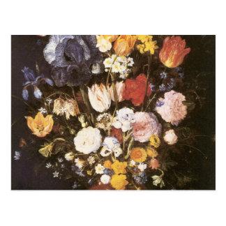 Jan Brueghel le vase plus ancien de fleurs Cartes Postales
