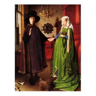Jan van Eyck: Het Briefkaart van het Portret van h
