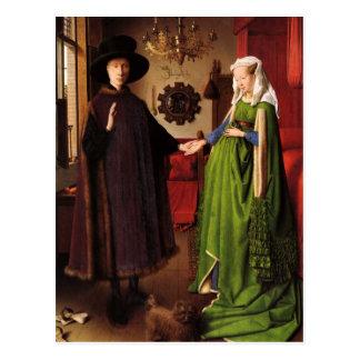 Jan van Eyck Protrait van Giovannit Arnofini & Vro Wens Kaart