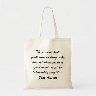 Jane Austen fourre-tout Sac En Toile Budget