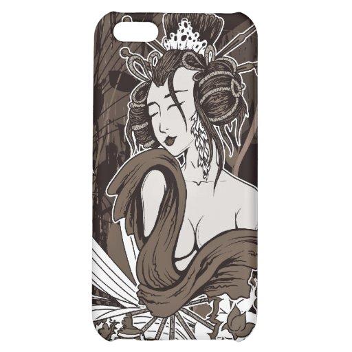 Japans vector de kunstgeval van de Geisha: iPhone  iPhone 5C Cases