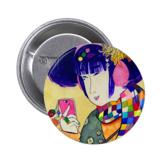 Japanse Houten Kunst van Moderne Mode Speld Buttons